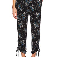 CeCe Ruched Dancing Bouquets Pants | Nordstrom