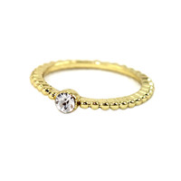 Scalloped Solitaire Ring