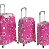 F150-PINKPEARL 3Pc Vision Polycarbonate/Abs Luggage Set