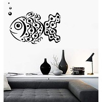Wall Stickers Vinyl Decal Tracery Fish Ocean Sea Marine Decor Unique Gift (ig618)