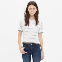 Crop Tee in Zone Stripe