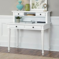 Home Styles Bermuda Brushed White Student Desk with Optional Hutch | www.hayneedle.com