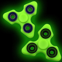 Light Fidget ABS Plastic Tri Spinner Glow in Dark Tri-spinner Toy For Autism and ADHD Kids Hand Spinner