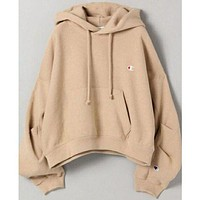 Champion Fashion Embroidery Logo Hooded Sweater Top Sweatshirt Hoodie Day-First™