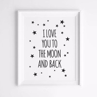 Wall Painting I Love You Posters And Prints  Wall Art Canvas Painting Art Print Wall Pictures Nordic Decoration No Poster Frame