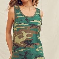 Vintage Camo Tank Top | Urban Outfitters