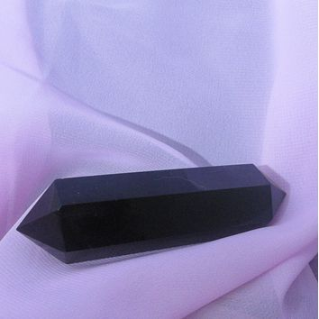 Black Obsidian Double Terminated Point