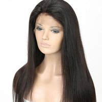 Brazilian Lace Front Human Hair Wigs Straight W/Baby Hair