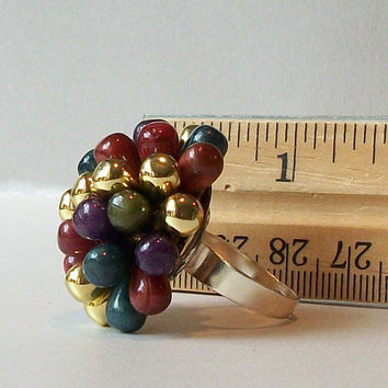 Vintage Earring Adjustable Ring, Eco-Friendly Ring, Vintage Earring, Upcycled Jewelry