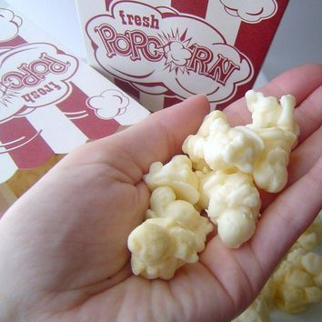 Large Box of Fresh Buttered Popcorn Goats Milk Soap by KcSoapsNmore