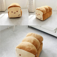 New Bread cushion pillow supersize deco plush king size loaf doll bakery cottonf