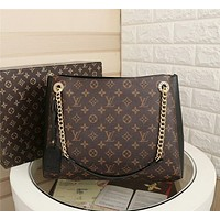LV Louis Vuitton WOMEN'S MONOGRAM CANVAS CHAIN SHOPPING BAG SHOULDER BAG