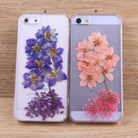 Consolida ajacis Pressed flower iPhone case Galaxy case 033