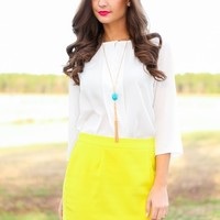 EVERLY:On The Move Blouse-Ivory