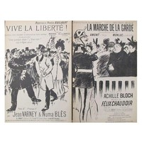 Pre-owned Steinlen Song Sheets - A Pair