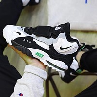 Nike Air Max Speed Turf Fashion Men Sport Running Shoes Sneakers Black&White&Green