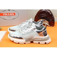 PRADA Fashion Men Women's Casual Running Sport Shoes Sneakers Slipper Sandals High Heels Shoes