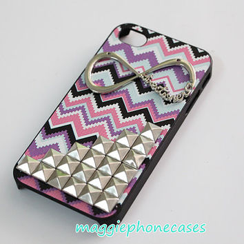 chevron studded iphone 4 case, studded iphone 4s case, studs iphone 5 case,one direction iphone 5s cases,directioner infinity iphone cases