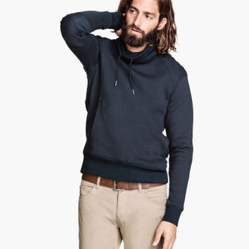 Sweatshirt with Chimney Collar - from H&M