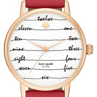 kate spade 'time on wire' leather strap watch, 34mm   Nordstrom