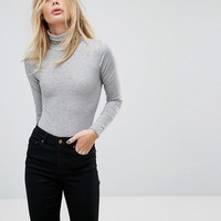 PrettyLittleThing Roll Neck Long Sleeve Body at asos.com
