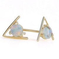 Catbird :: WHAT'S NEW: jewelry :: Large Triangle Opal Earrings