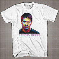 Leonel Messi WPAP Face  Mens and Women T-Shirt Available Color Black And White