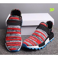 Adidas X Pharrell HU NMD Race Black Leisure Running Sports Shoes