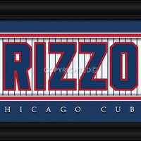 """Chicago Cubs Anthony Rizzo Print - Signature 8""""x24"""""""