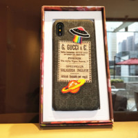 Gucci : UFO planet pattern print phone shell phone case for Iphone 6/6S/6P/6SP/7P/7/8/8P/X