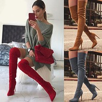 Brand New Women's Shoes Woman Over The Knee Boots Thin High Heel Sexy Party Boots