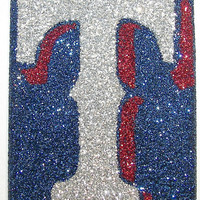 Sparkly Texas Rangers iPhone 4/4G Cell Phone Case - iPhone 5 cases available.