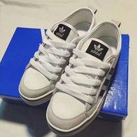 """""""Adidas"""" Unisex Casual Fashion Stripe Canvas Plate Shoes Couple Sneakers"""