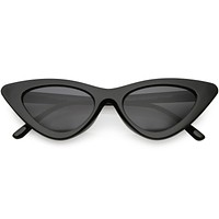 Womens Exaggerated Frame Cat Eye Sunglasses Neutral Colored Lens 48mm