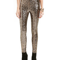 Metallic Sequined Skinny Pant