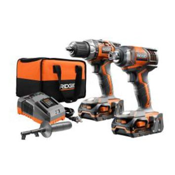 RIDGID X4 18-Volt Lithium-Ion Cordless Drill and Impact Driver Combo Kit (2-Tool) R9602 at The Home Depot - Mobile
