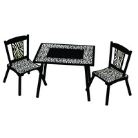 Levels of Discovery Wild Side Table & 2 Chair Set - LOD71002