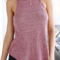 Solid Color Knit Tank Top