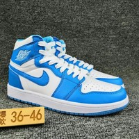 Women's and Men's NIKE Air Jordan 1 generation high basketball shoes  024