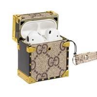 GUCCI hot seller of leather monogrammed iPhone earphone case
