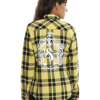 Harry Potter Hufflepuff Plaid Girls Woven