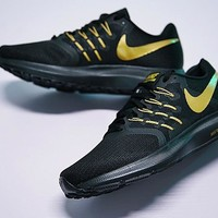 "Nike Run Swift Running Shoes ""Black&Gold""908989-502"