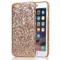 """iPhone 6S Case, Nicelin Glitter Pattern Hard PC Materials Case for Apple iPhone 6S (4.7"""" Display) (NOT FOR iPhone 6S Plus) (Gold)"""