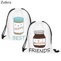 2pc Skippy and Nutella Best Friend Soft Backpacks