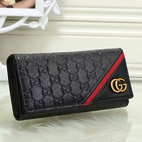 Gucci Women Fashion Leather Buckle Wallet Purse