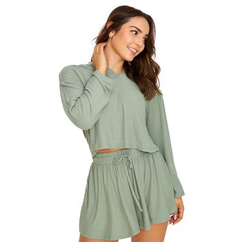 Let's Chill Olive Pullover