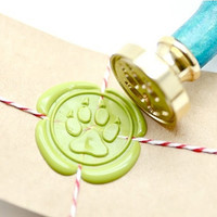 Paw Claw Animal B20 Gold Plated Wax Seal Stamp x 1