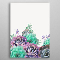 Succulents in purple and green by Jace Anderson | Displate