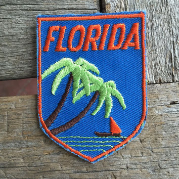 Florida Vintage Souvenir Travel Patch from Voyager - LAST ONE!