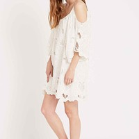 Little White Lies Pamela Cold-Shoulder Dress in White - Urban Outfitters